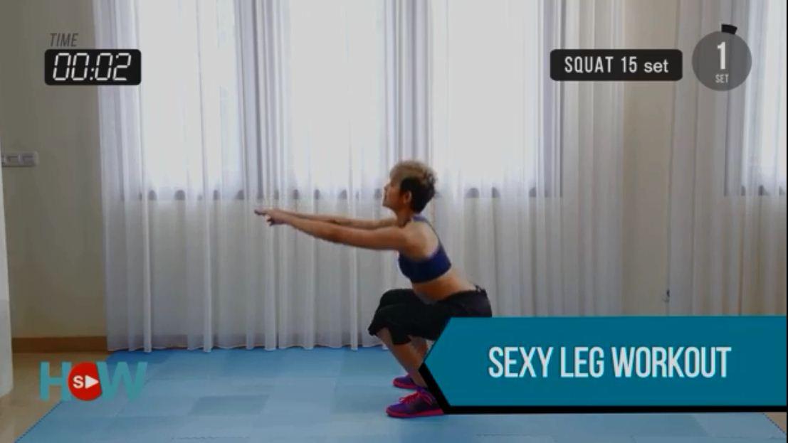 Gerakan Olahraga Mengecilkan Paha dan Betis dengan sexy leg workout