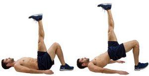 olahraga mengecilkan perut dengan bridge opposite arm leg crunch