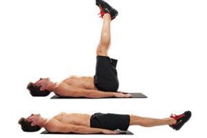 olahraga mengecilkan perut dengan leg raise