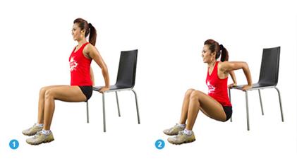 Cara mengecilkan tangan dengan olahraga chair dips