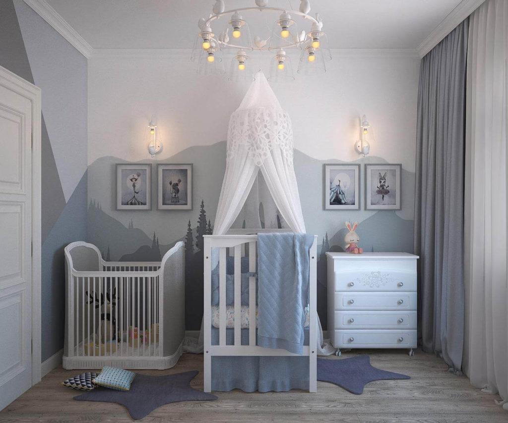 tempat tidur bayi berkelambu
