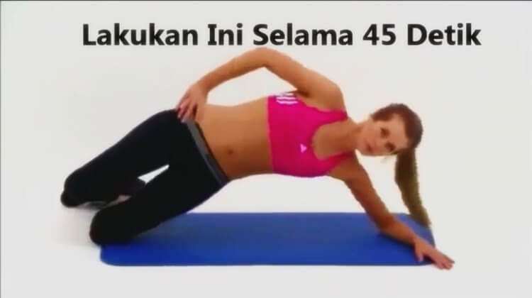 gerakan untuk mengecilkan perut buncit