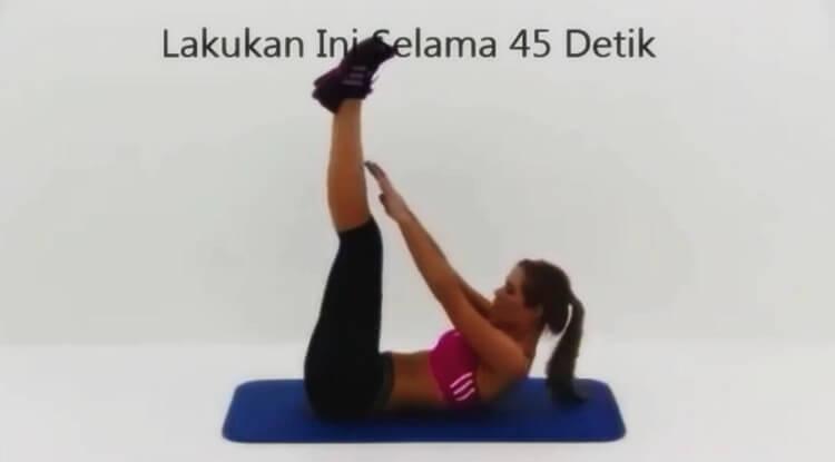 gerakan ringan untuk mengecilkan perut